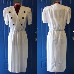 vintage double dressed look dress 80s does 50s